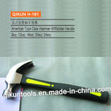H-16 Construction Hardware Hand Tools American Type Claw Hammer with Plastic Coated Handle
