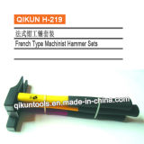 H-219 Construction Hardware Hand Tools Fiberglass Handle French Type Machinist's Hammer Set