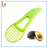 3in1 Avocado Shea Butter Fruit Plastic Slicer Cutter Knife