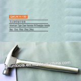 H-150 Construction Hardware Hand Tools American Type Claw Hammer with Only Steel Pipe Handle