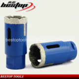 Vacuum Brazed Diamond Core Drill Bits with Side Proection Teeth