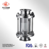 Sanitary Tubular/ Inline Stainless Steel Sight Glass with Glass Tube Circular Sight Glass for Home Brewing