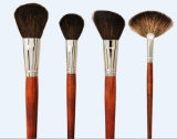 Cosmetic Brush Set Rose Wooden Handle and Natural Hair