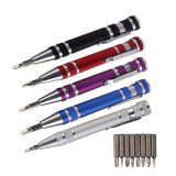 8 in 1 Multi-Function Screwdriver Aluminum Pen Shaped Screw Driver Set