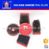 Hot Sale Round/Frankfurt Steel Wire/Nylon Hard Abrasive Antique Diamond Brush for Stone Polishing