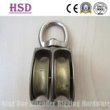 Double Pulley Swivel Type, Zinc Alloy, Rigging Hardware, Marine Hardware