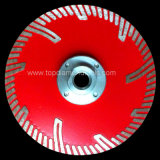 Hot Press Diamond Turbo Segmented Saw Blade with Side Protection