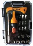 9PC /Set T- Ratchet Handle, Bits and Sockets Set