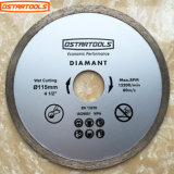 Diamond Rim Continous Saw Blade for Wet Cutting Circular Diamond Saw Blades