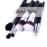 China Factory Privated Label Black Nylon Goat Hair High End Makeup Cosmetic Brush Set