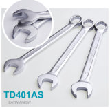 Td401as Hot Forged Chrome Vanadium European Type Household Car Repair Tool Combination Wrench