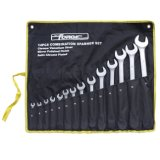 14PCS Cr-V Steel Matte Finished Combination Spanner Set Wrench Set