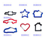 High Quality Car Heart Star House Shaped Aluminum Hook for Keychain Carabiner Camping Spring Snap Clip Promotion