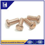 Copper Flat Round Base Solid Rivet for Machinery Part