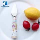 High Quality Ceramic Handle 18/10 Stainless Steel Cake Knife