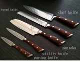 Kitchen Knife Set Chef Knife Santoku Knife Paring Knife Utility Knife Bread Knife