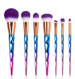 2017 Hot Selling Mermaid Style 7 Piece 5 Styles Good Quality Multifunctional Cosmetic Brush Set