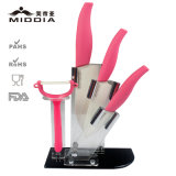 Enviroment Friendly Ceramic Knife Kitchen Set with Peeler/Holder