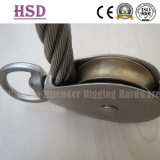 Eye Swivel Type Single Pulley, Fixed Double Pulley, Wire Rope, Rigging Hardware, Marine Hardware