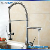Single Lever Chrome Pull out Brass Kitchen Sink Water Tap