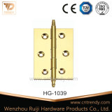 Residential Brass Stainless Steel Door Hinge with Fixed Pin (HG-1039)