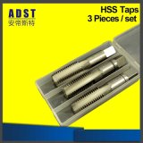China Manufacturer HSS 3 PCS Hand Taps Set for Machine Tools