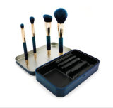 4PCS Magnet Cosmetic Brush Set with Iron Case