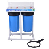 2 Stage Big Blue Water Filter with Steel Shelf