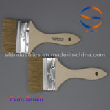 3 Inch Pig Hair Paint Brushes with Thin Wooden Handle