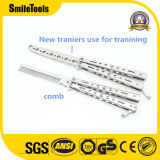 Folding Knife Not Edged Blade Practice Comb Butterfly Knife for Trainer