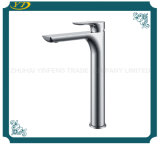 Indoor Water Saving Zinc Handle Tall Single Hole Washbasin Mixer