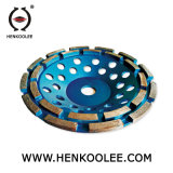 Brazed Diamond Double Cup Wheel for Concrete