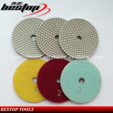 4 Inch 3 Steps Diamond Wet Polishing Pad for Granite