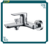 Durable Hot and Cold Double Hole Wall Mounted Bath-Shower Mixer