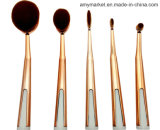 Multifunctional Nylon Fiber Plated Handle Cosmetic Brushes Set 5PCS