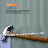 H-115 Construction Hardware Hand Tools American Type Claw Hammer with Wooden Handle
