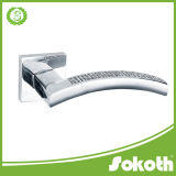 Good Quality Square Zinc Alloy Door Handle, China Door Handle, Door Hardware