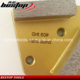 Trapezoid Metal Diamond Concrete Grinding Pad Scraper for Floor Grinder