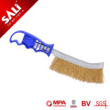 Sali Good Quality BBQ Knife Plastic Hand Crimped Wire Brush