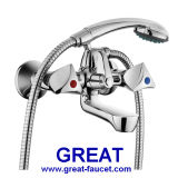 Brass Bathroom Shower Faucet with Shower Set