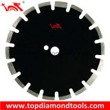 Asphalt & Green Concrete Cutting Diamond Saw Blades with Protective Teeth