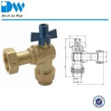 Brass Ball valve with Deca Fittings for Water Emter