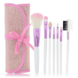 Pink 7 Pieces Mini Travel Cosmetic Brushes Set