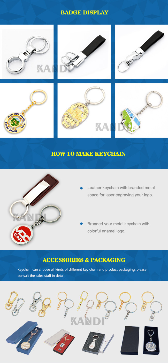 Custom Souvenir 3D Metal Key Chain Leather Soft PVC Blank Wood Heart Acrylic Silicon LED Light Emoji Car Logo Bottle Opener Keychain for Spain Promotional Gift